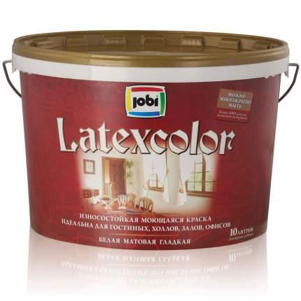 Краска JOBI LATEXCOLOR моющаясяся латексная -20С° 10л