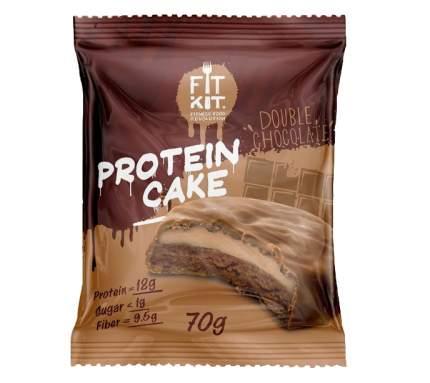 Fit Kit Protein Cake 70 г (вкус: двойной шоколад) Протеиновое печенье