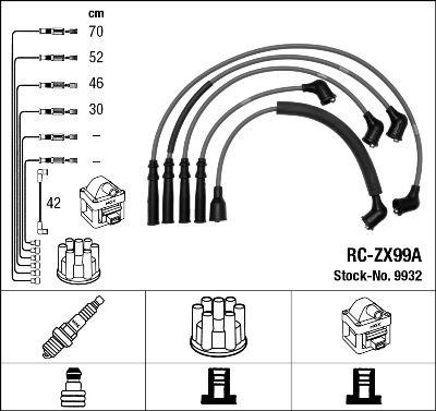 Комплект проводов зажигания NGK 9932