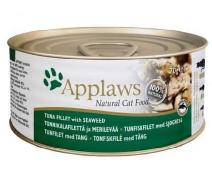Консервы для кошек Applaws с филе тунца и морской капустой, 156г