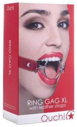 Расширяющий кляп Shots Media Ring Gag XL с красными ремешками