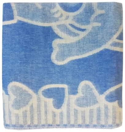 Одеяло детское Папитто байковое 100*140, Синий 1155-2