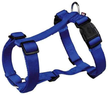 Шлейка для собак TRIXIE PREMIUM, нейлон, синяя, S-M, 40-65 см х 15 мм