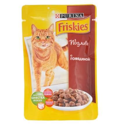 Влажный корм для кошек Friskies, говядина, 100г