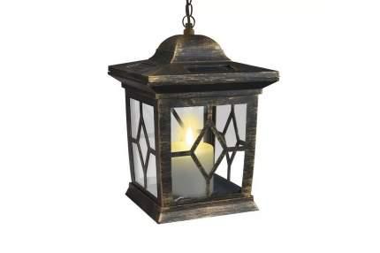 Светильник на солнечных батареях Uniel USL-S-180/PT220 Bronze lantern 22 см