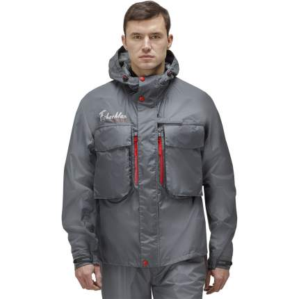 Куртка для рыбалки Nova Tour Fisherman Риф V2, темно-серая, S INT, 176 см