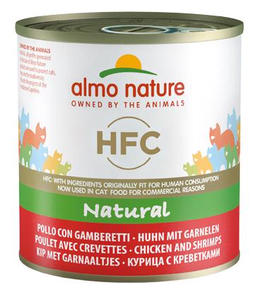 Консервы для кошек Almo Nature HFC Natural, морепродукты, курица, 12шт, 280г