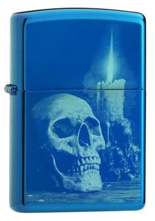 Зажигалка Zippo Classic Skull 29704 High Polish Blue