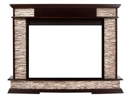 Портал из камня для камина Electrolux Scala Classic сланец бурый/темный дуб