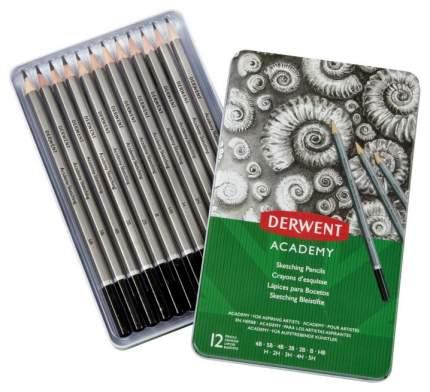 Набор чернографитных карандашей Academy Sketching, 12 штук