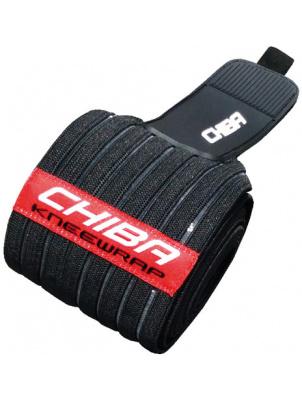 Chiba Бандаж для колена Pro art 40486, Черный-Полосатый-Красный