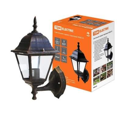 Светильник 4060-11 садово-парковый четырехгранник, 60Вт, вверх, бронза TDM SQ0330-0031