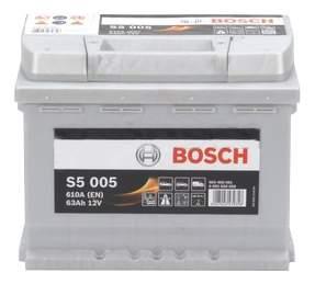Аккумулятор автомобильный BOSCH S5 Silver Plus 0 092 S50 050 63 Ач