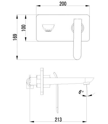 Смеситель для встраиваемой системы LEMARK Melange LM4926CW белый/серебристый