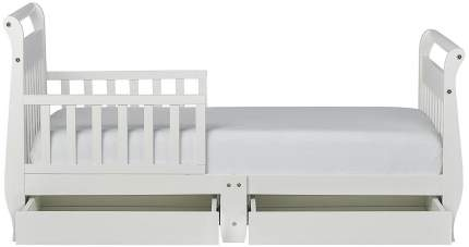 Кровать Dream On Me Sleigh Toddler Bed with Storage Drawer White