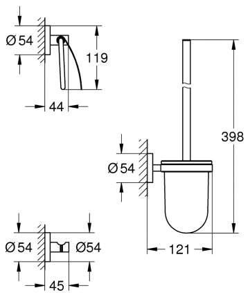 Набор для ванной комнаты Grohe Essentials 3 в 1 City Restroom 40407DC1 Supersteel