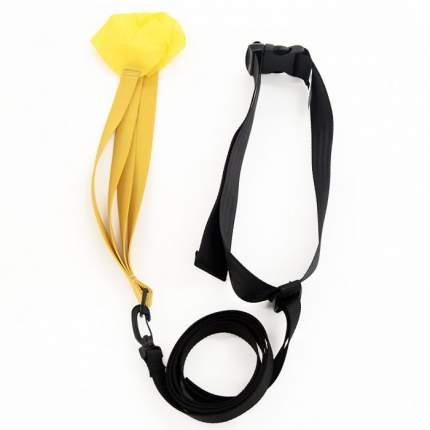Тормозной пояс с парашютом для плавания StrechCordz Drag Belt желтый S