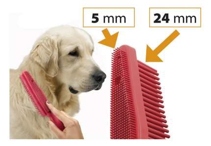 Расческа для кошек и собак Ferplast резина, цвет красный