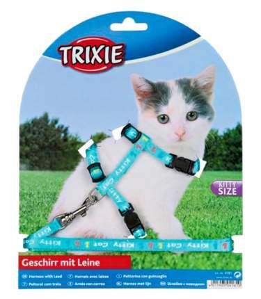 Шлейка для малых кошек и котят Trixie нейлон с рисунком