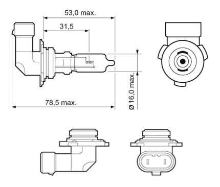 Лампа галогенная VALEO 60W P20d 32013