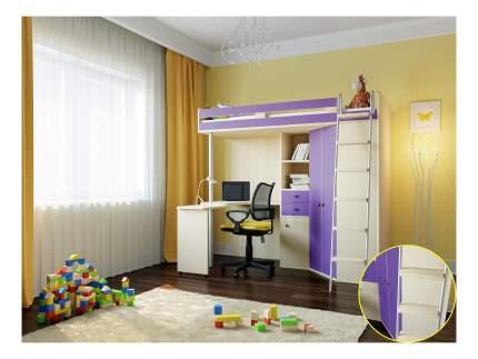Кровать РВ-Мебель М-85 дуб молочный/фиолетовый