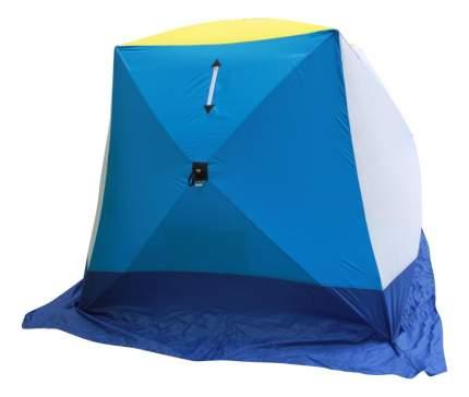 Палатка Стэк Куб двухместная белая/желтая/синяя