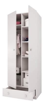 Детский шкаф двухсекционный Polini Simple с 1 ящиком, белый