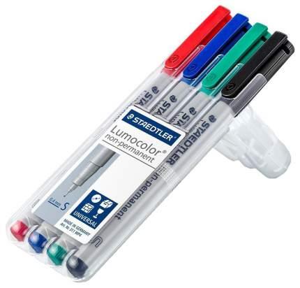 Набор маркеров неперманентных Staedtler Lumocolor 0,4 мм 4 цвета