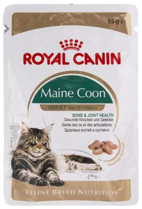 Влажный корм для кошек ROYAL CANIN Maine Coon, мясо, 85г