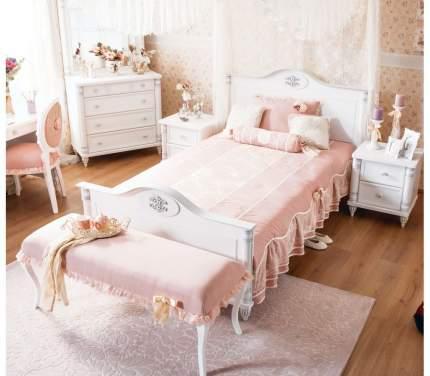 Кровать Cilek Romantic XL 120х200 см, белый/розовый