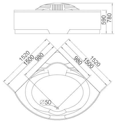 Акриловая ванна gemy g9006-1.7 b l