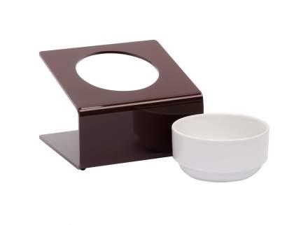 Миска для домашних животныз Artmiska Стиль, на подставке, коричневая, 360 мл