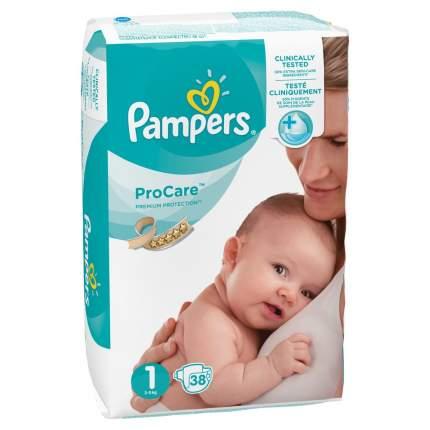 Подгузники для новорожденных Pampers ProCare для новорожденных 2-5 кг 38 шт.