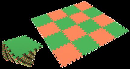 Развивающий коврик Eco Cover 25*25 см оранжево-зеленый