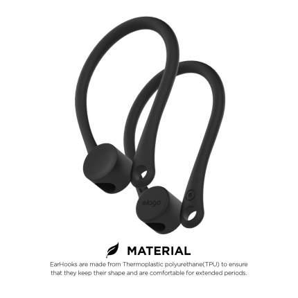 Держатель Elago Earhook (EAP-HOOKS) для наушников Apple AirPods (Black)