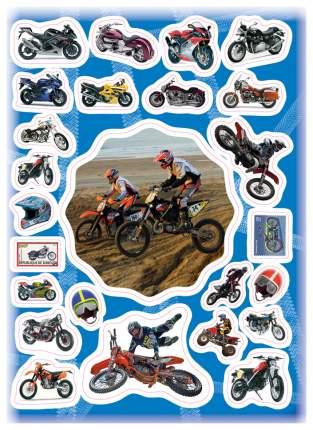 Наклейка декоративная для детской комнаты РОСМЭН Стикерляндия 100 наклеек Мотоциклы