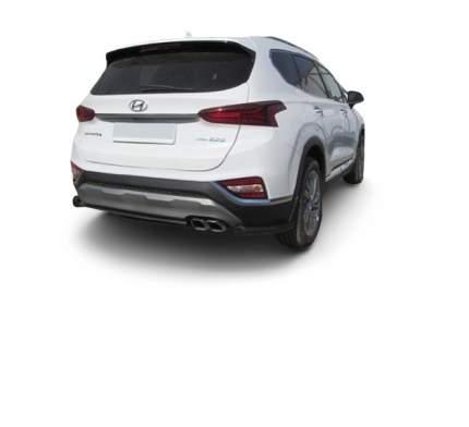 Уголки d57 короткие Arbori черные для Hyundai SANTA-FE 2018-нв
