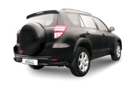 Уголки d57+d42 двойные Arbori черн. для Toyota RAV4 Long 2009-2014