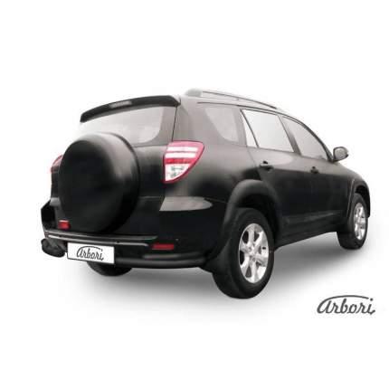 Уголки d76+d42 двойные Arbori черн. для Toyota RAV4 2009-2014