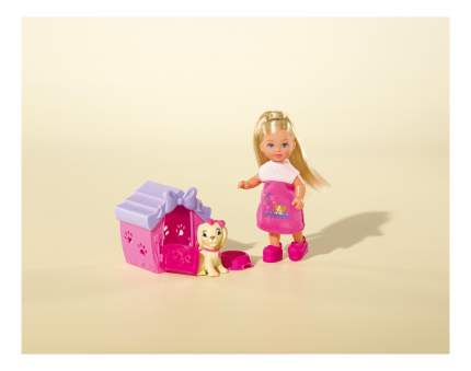 Кукла Simba Еви с собачкой в домике, 12 см