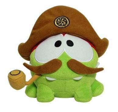 Мягкая игрушка 1 TOY Cut the rope плюшевая пират, 12 см со звуком, 4 шт.