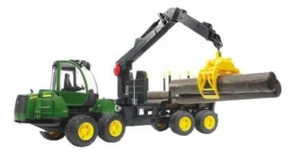 Трактор Bruder John Deere 1210e с прицепом