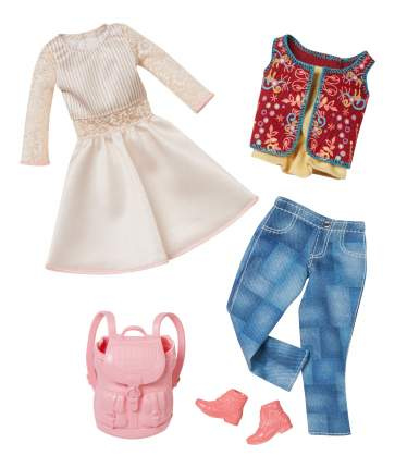 Набор модной одежды Barbie CFY06 DMF57 White Dress & Jeans