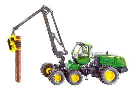 Трактор Siku Джон Дир с манипулятором зелёный