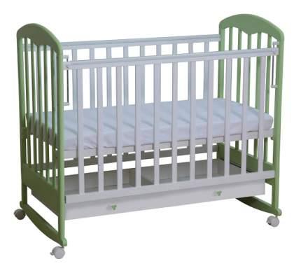Кровать-качалка детская Фея 325 Белая-Мята