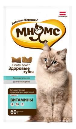 Лакомство для кошек Мнямс Dental health фигурки, рыба, 60 г