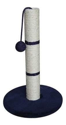 Когтеточка MAJOR, столбик с игрушкой, синий, 65х30х30см