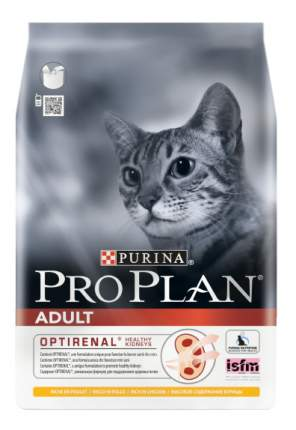 Сухой корм для кошек PRO PLAN Adult Optirenal, курица, 3кг