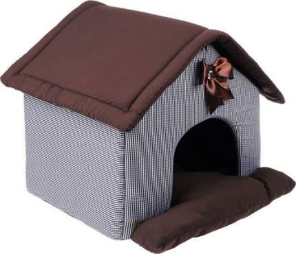 Домик для кошек и собак ЗООГУРМАН 40x45x45см коричневый