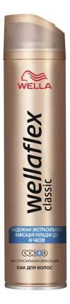 Лак для волос Wella Wellaflex Сlassic экстрасильная фиксация, 250 мл,